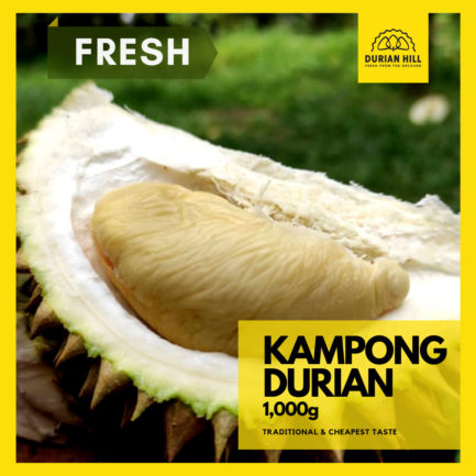 Fresh Kampong Durian Pulp 1kg 【Packed】
